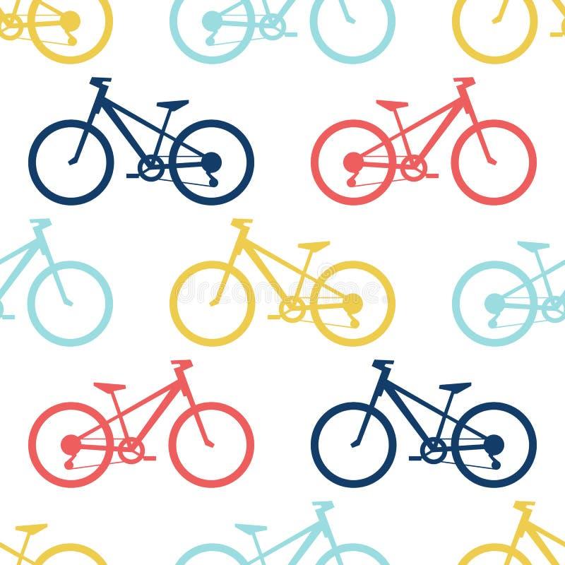 Retro roweru bezszwowy wzór ilustracji