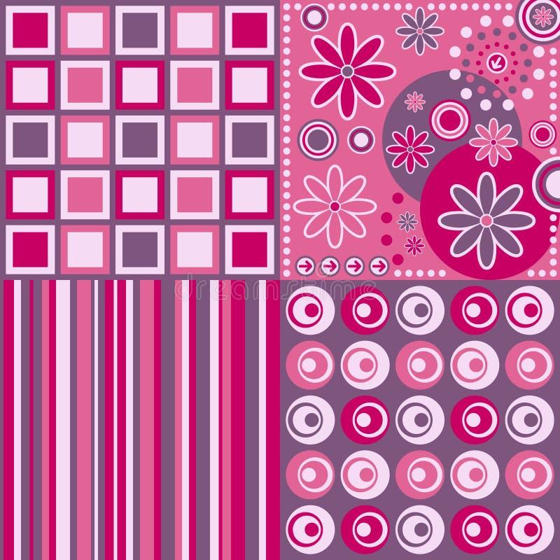 Retro [Roze] Achtergrond stock illustratie