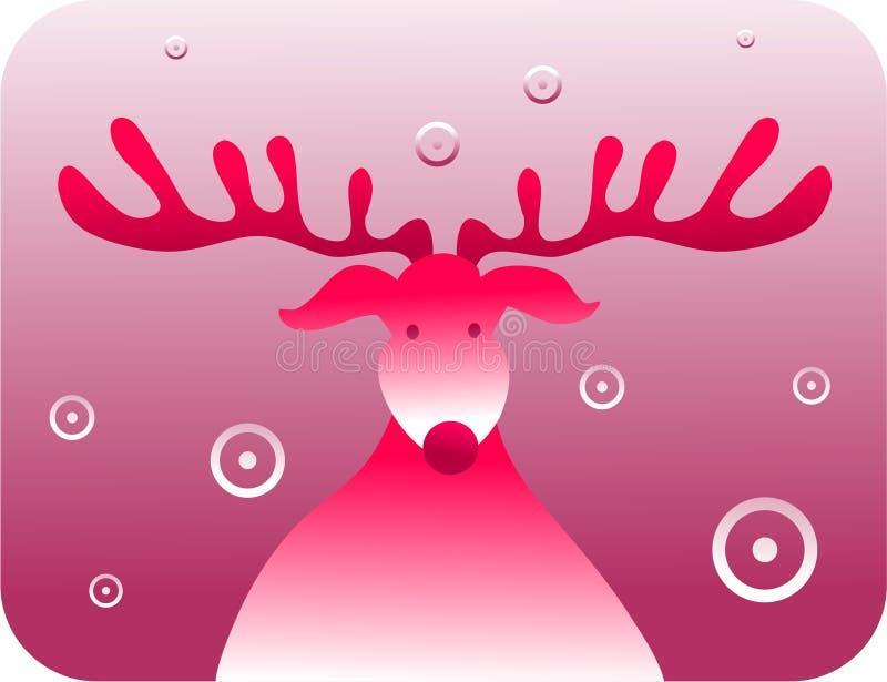 Retro- Rudolf lizenzfreie abbildung