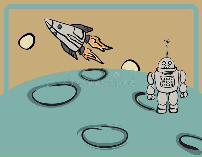 Retro ruimteontwerp vector illustratie
