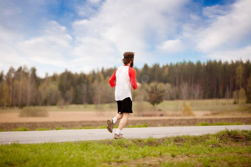 Retro Runner stock photo