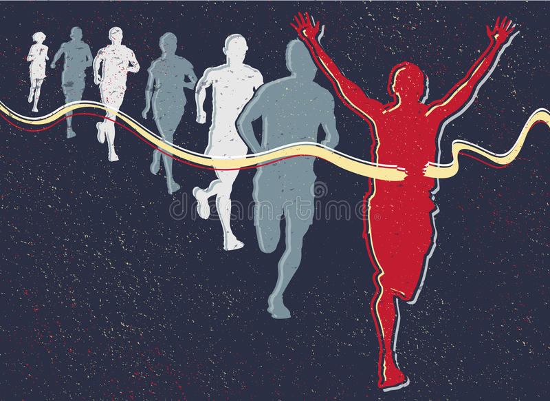 Retro Runners. royalty free illustration