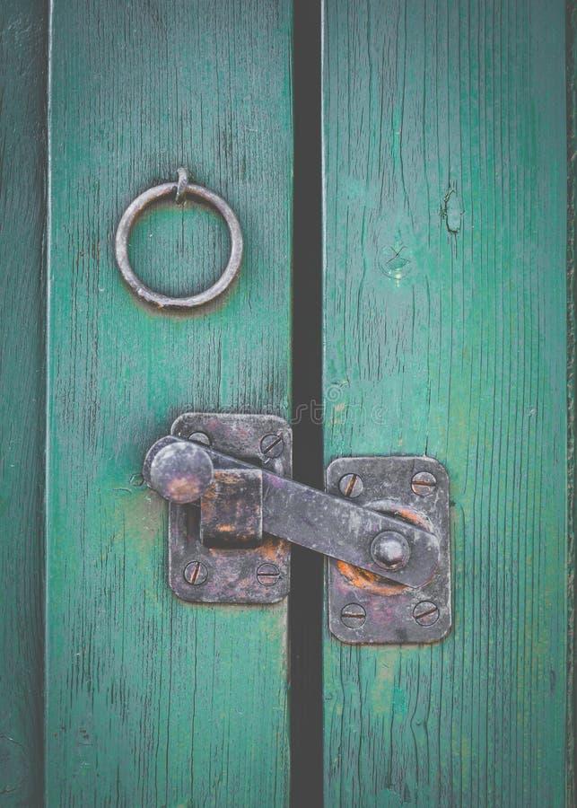 Free Retro Rustic Door Latch Stock Photo - 46163370