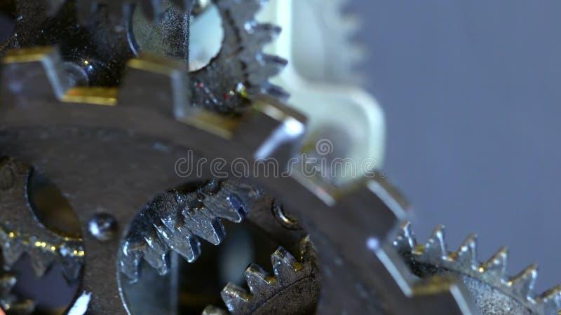 Retro Rusty Mechanic Clock Gears stock images