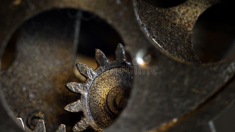 Retro Rusty Mechanic Clock Gears royalty free stock images