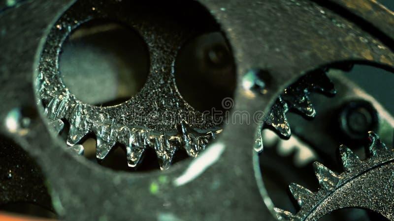 Retro Rusty Mechanic Clock Gears royalty free stock photo