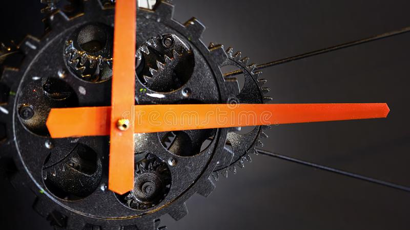 Retro Rusty Mechanic Clock Gears. Photo royalty free stock images