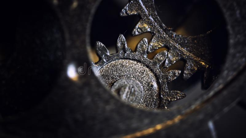 Retro Rusty Mechanic Clock Gears royalty free stock image
