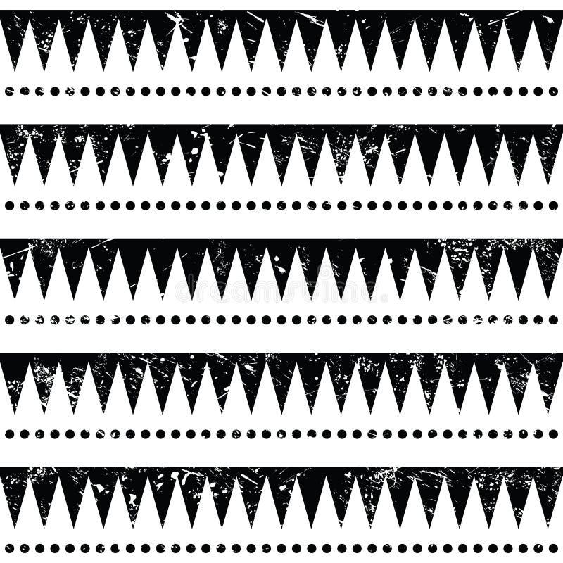 Download Retro Sömlös Aztec Stam- Modell -, Grungestil Stock Illustrationer - Illustration av joller, modell: 37349565