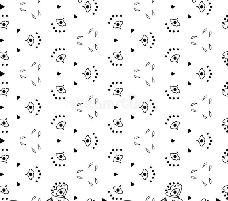 Retro sömlös tulpan, abstrakt blommamodell för lilja vektor illustrationer