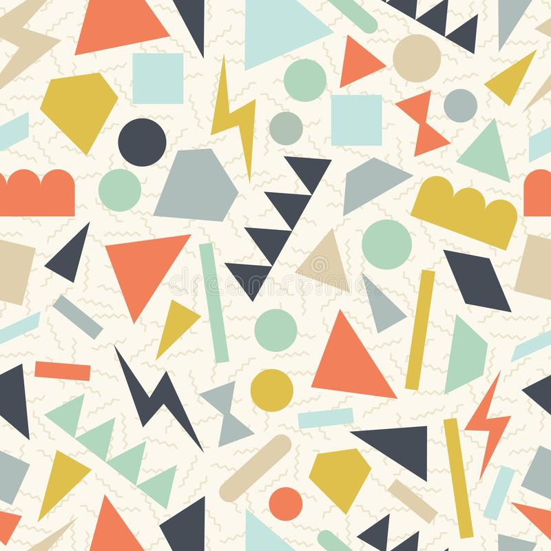 Retro 80s geometric pattern background royalty free stock image