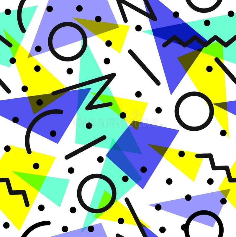 Retro 80s pattern background illustration stock illustration