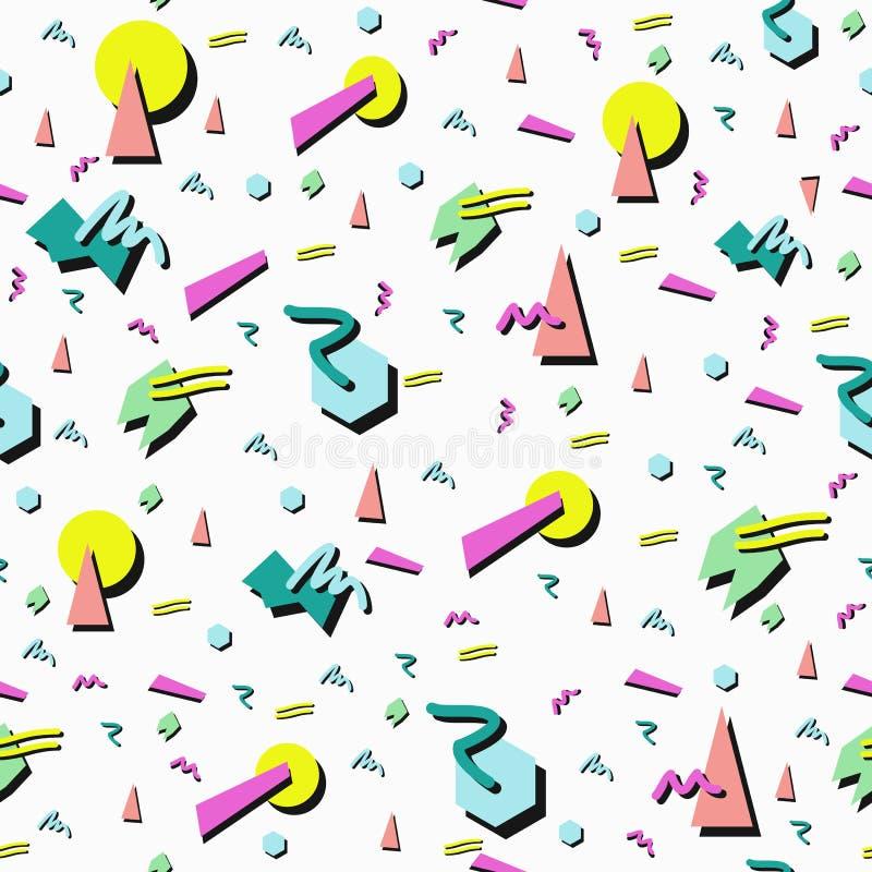 Retro 80s seamless pattern background royalty free illustration