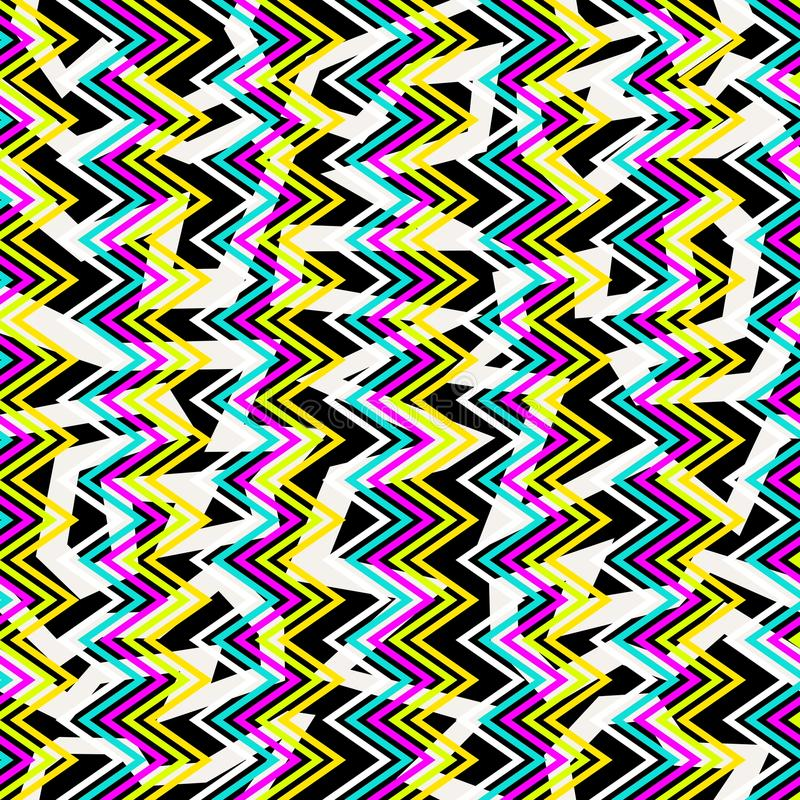 Retro 80s seamless pattern background royalty free stock images