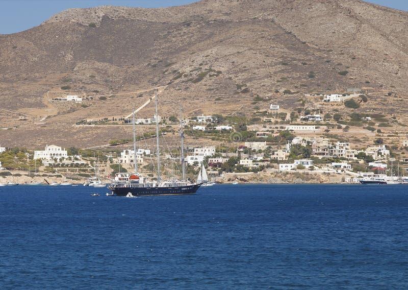 Retro Sailing Yacht. Editorial Stock Image. stock photo