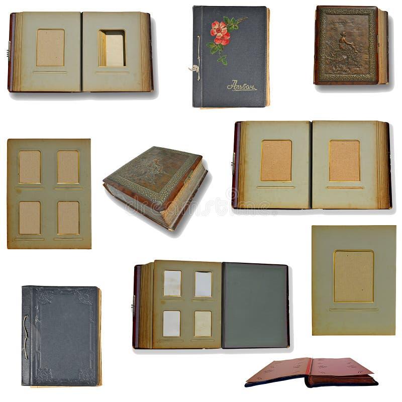 Retro Sammlung Fotoalben lizenzfreie stockbilder