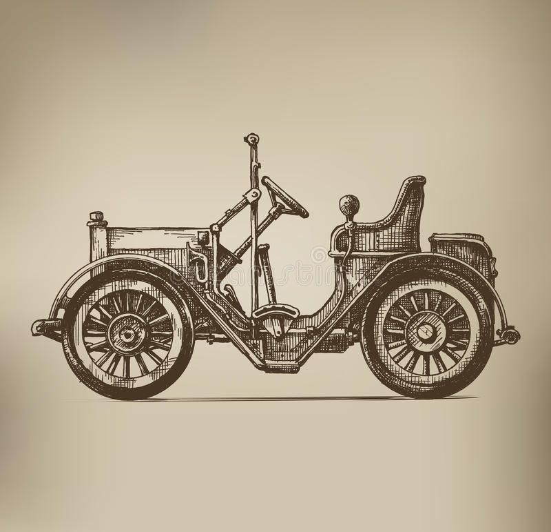 Retro samochód royalty ilustracja