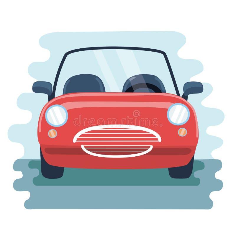 Retro samochód w frontowego widoku wektoru pic royalty ilustracja