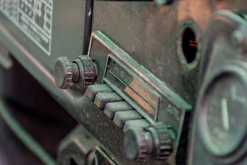 Retro samochodowego radia rocznika styl zdjęcie royalty free