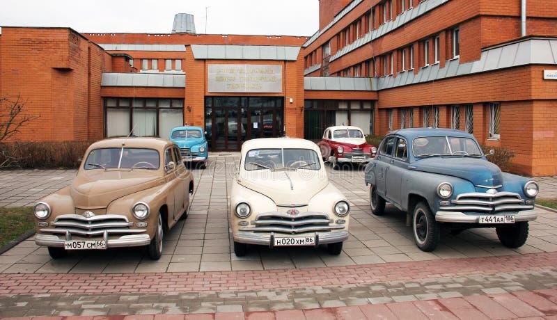 Retro samochody Moskvich obraz stock