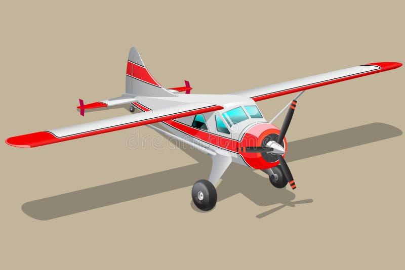 Retro samolotowa ilustracja ilustracji