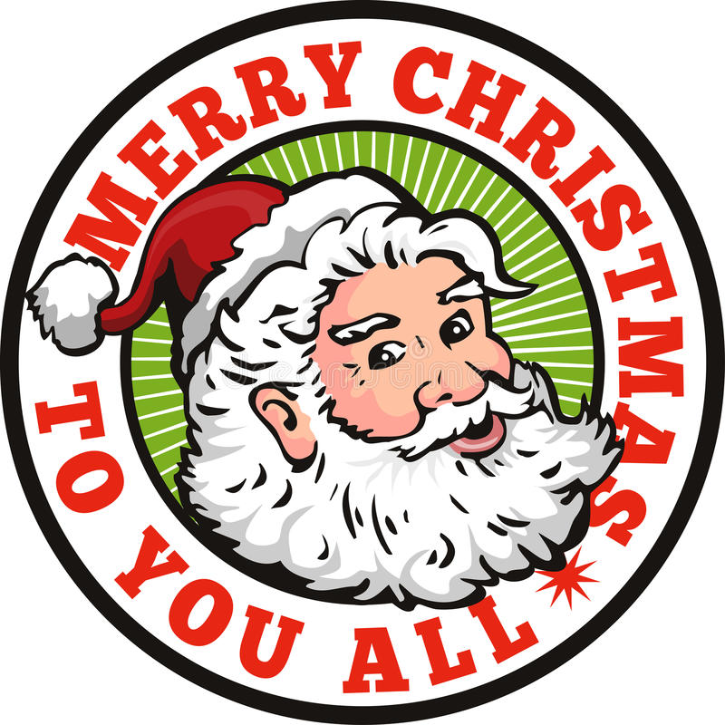 Retro Santa Claus faderjul stock illustrationer