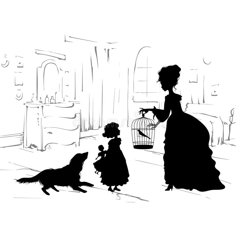 Retro scène van levensstijl royalty-vrije illustratie