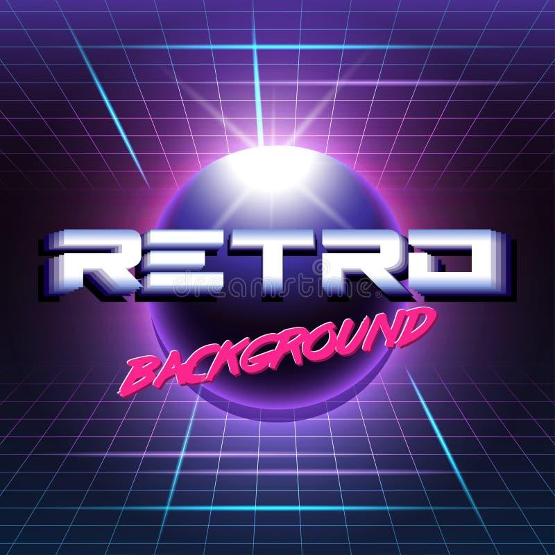 Retro sc.i-FI background3 royalty-vrije illustratie