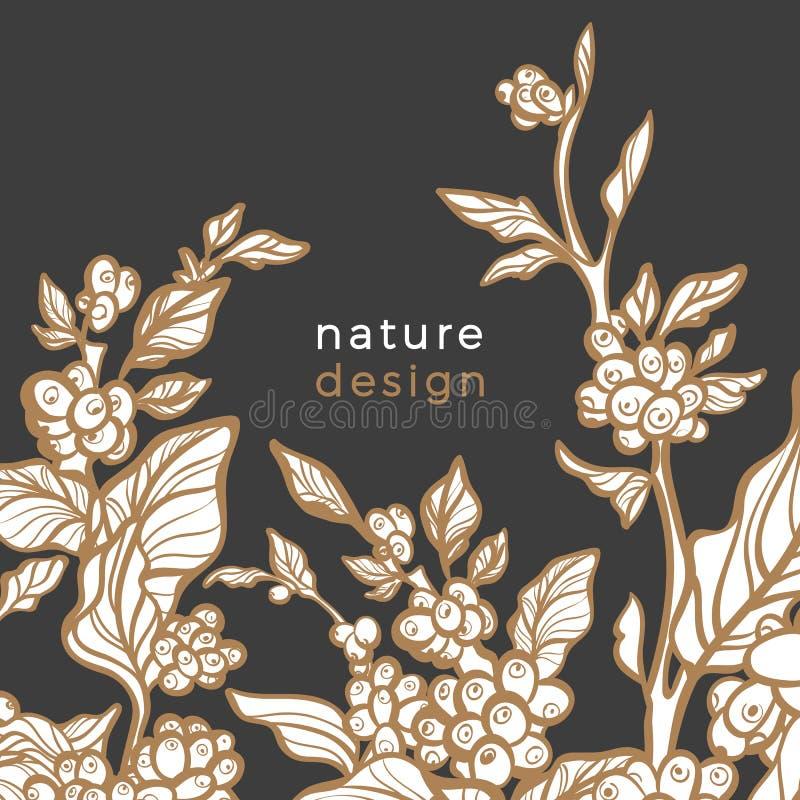 Retro- Schablone des Vektors Art- Decogoldenes Design lizenzfreie abbildung