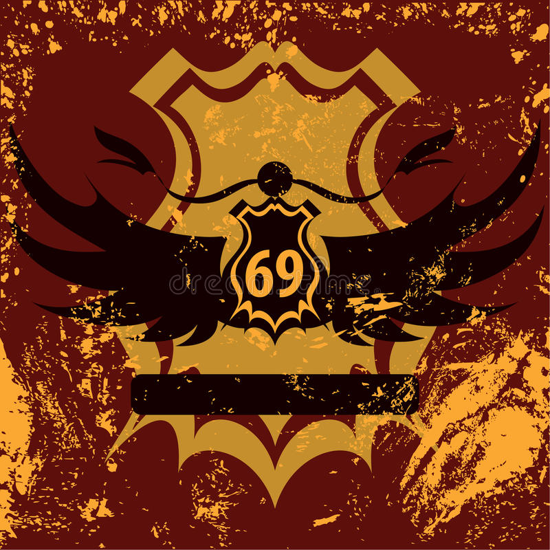 Retro schild grunge ontwerp vector illustratie