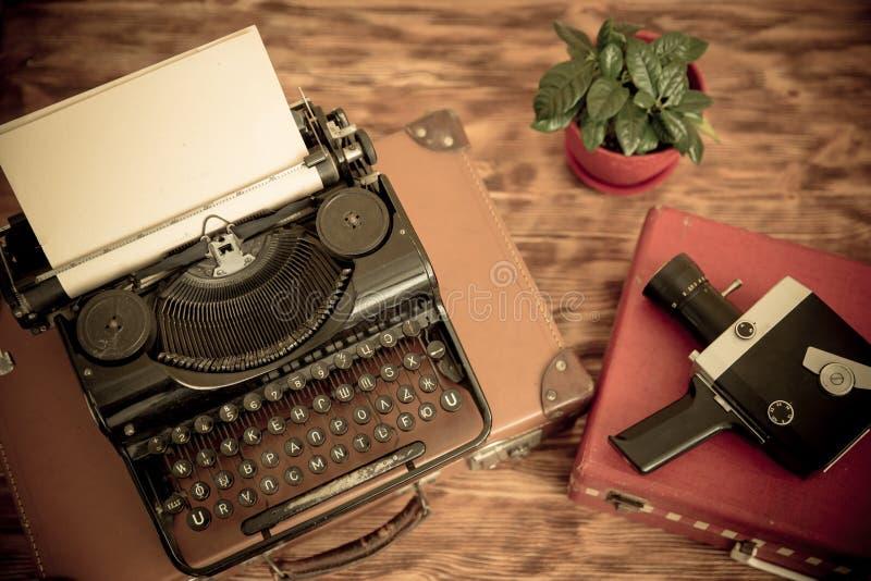 Retro- Schreibmaschine stockbild