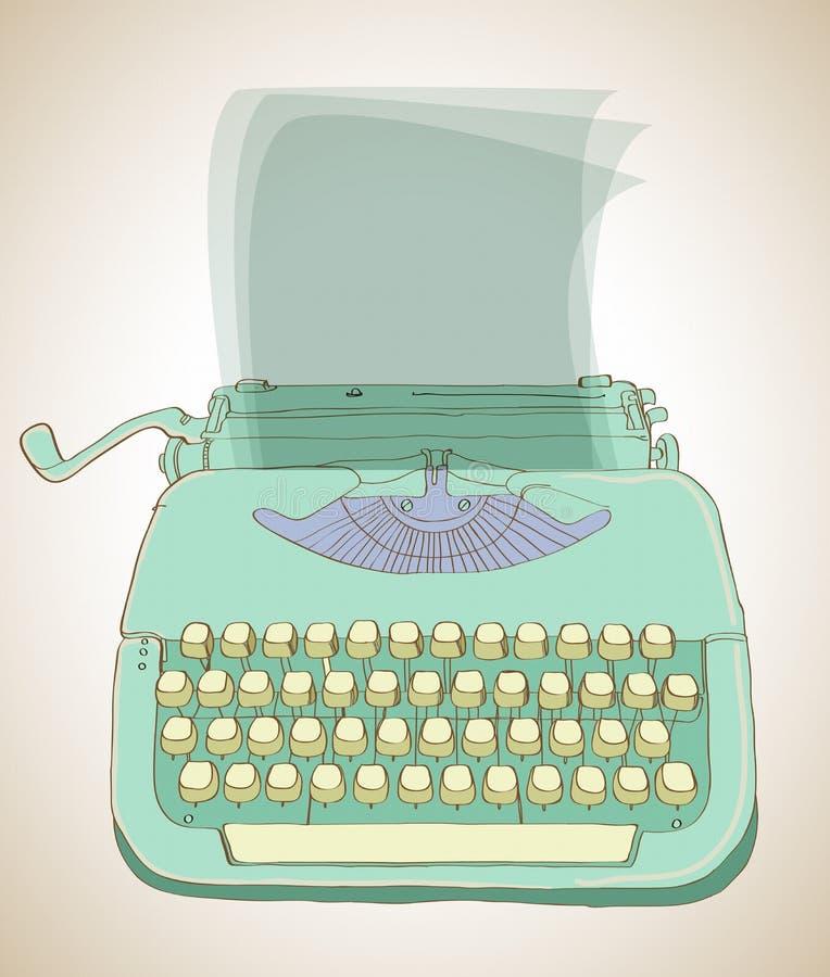 Retro- Schreibmaschinenhintergrund vektor abbildung