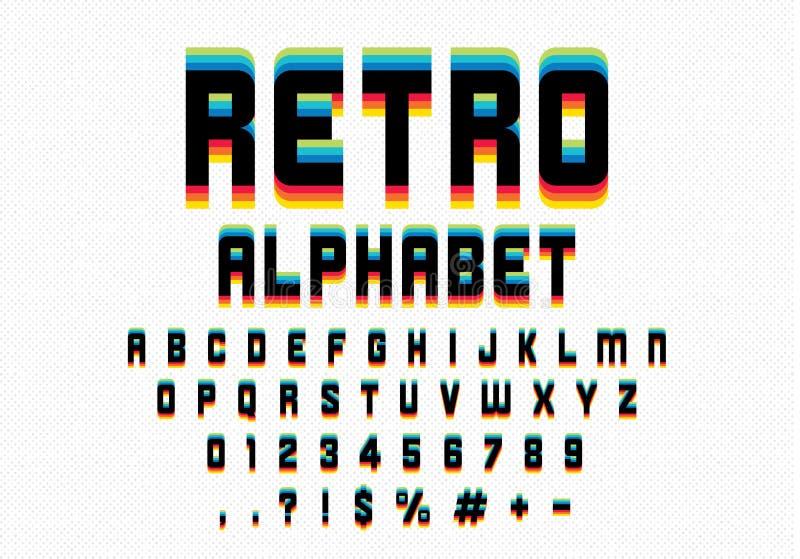Retro- Schrifttyp stock abbildung