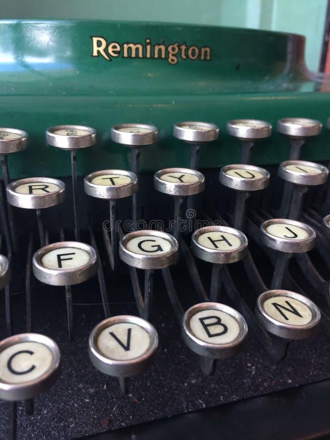 Retro schrijfmachinesleutels stock foto's