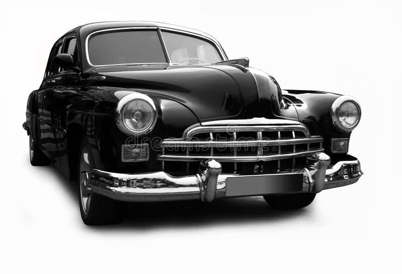 Retro- schwarzes Automobil stockfoto