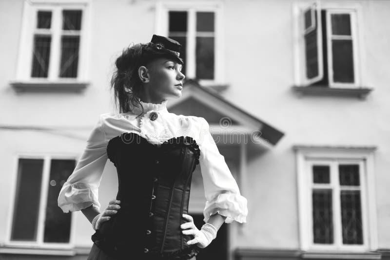 Retro- Schwarzweiss-Portrait lizenzfreie stockfotografie