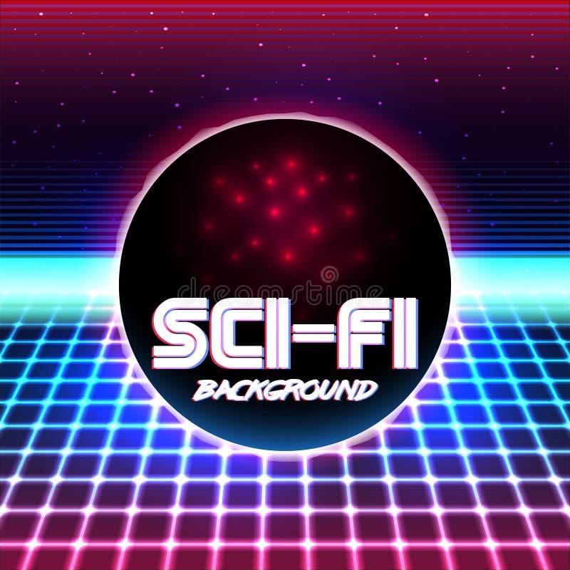 Retro sci fi background11 vector illustration