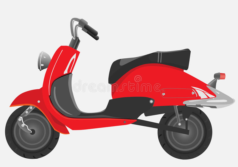Download Retro scooter stock vector. Image of travel, motor, street - 9813277