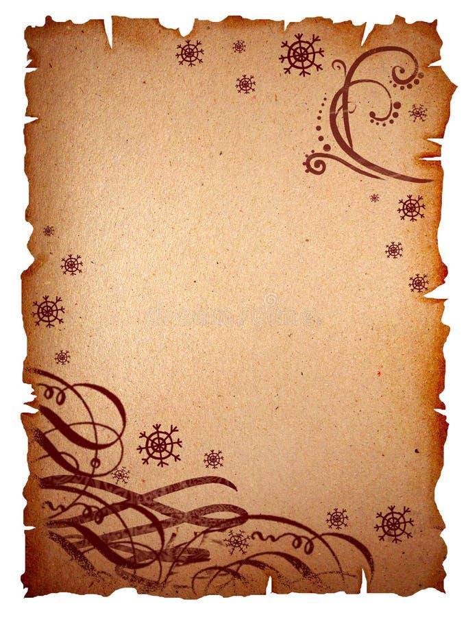 retro scroll för design royaltyfri illustrationer