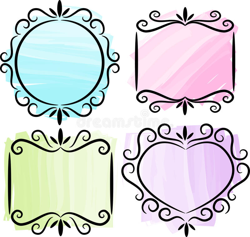 Download Retro  Scrollwork Frame Collection/ai Stock Vector - Illustration: 14979209