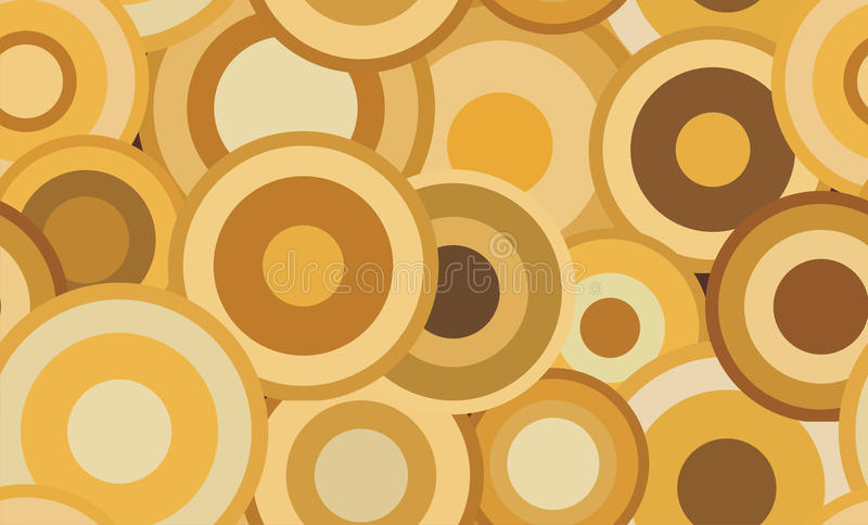 Retro seamless abstract texture with circles stock photo