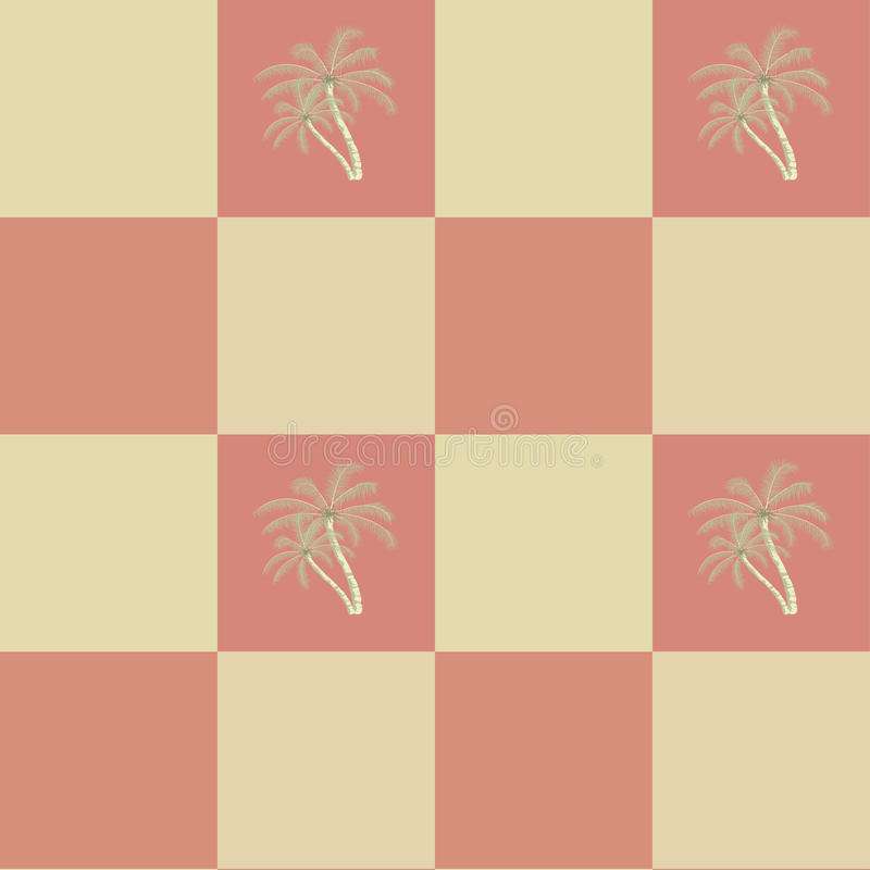 Retro seamless coconut palm trees pattern. Background vector illustration