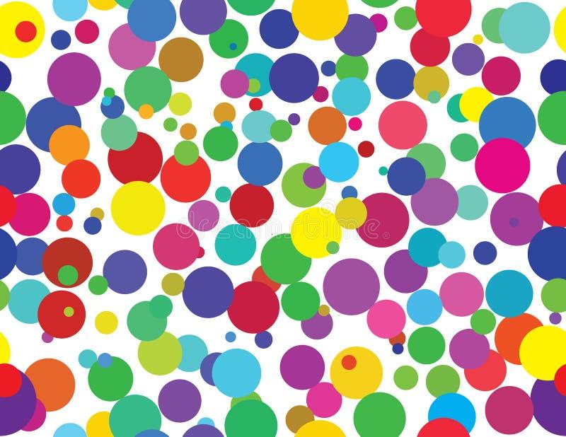 retro seamless för färgrika prickar vektor illustrationer