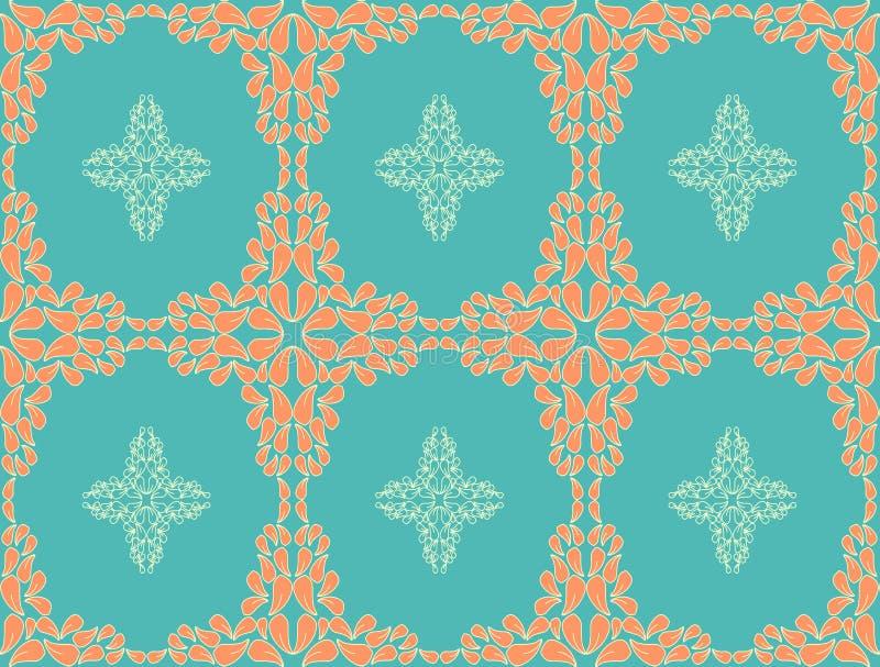 Retro seamless flower pattern background. Retro seamless flower pattern, editable color background royalty free illustration
