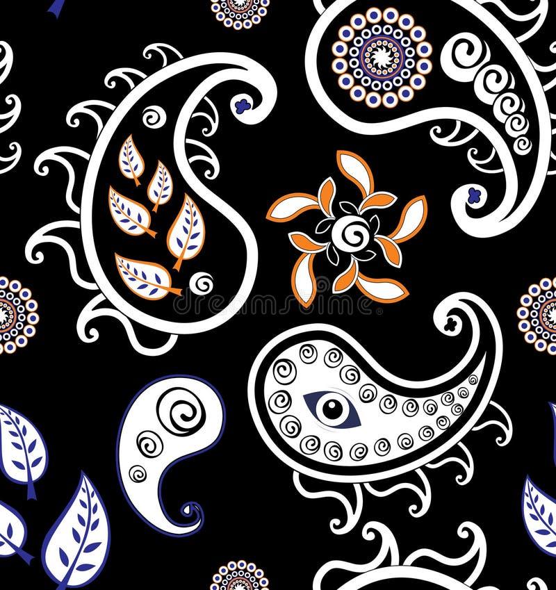 Retro seamless paisley (turkish cucumber)pattern royalty free stock images