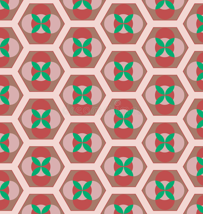 Retro seamless pattern stock illustration