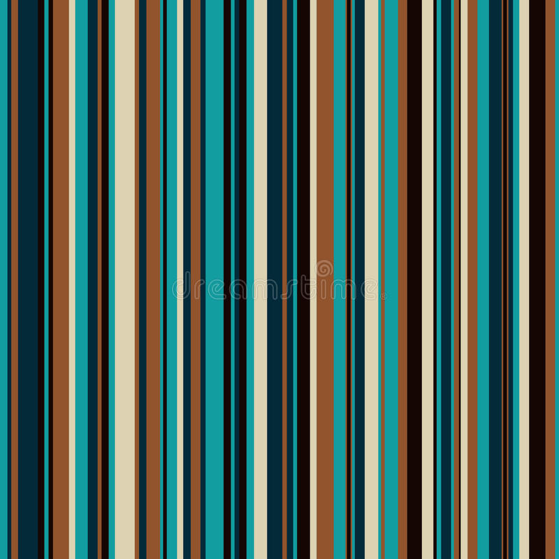Retro seamless, pattern with color stripes stock illustration