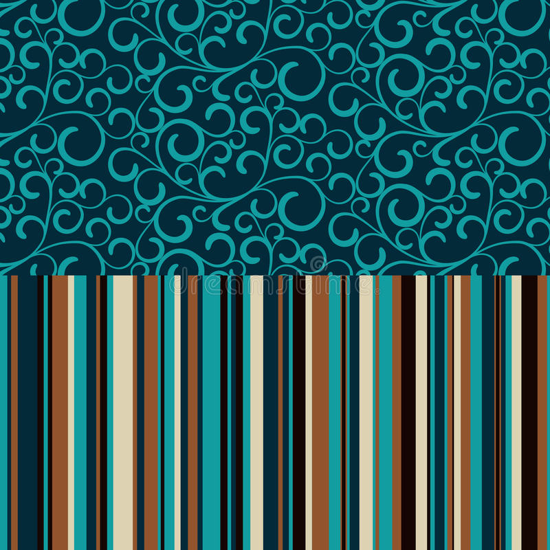 Retro seamless, pattern with color stripes royalty free illustration