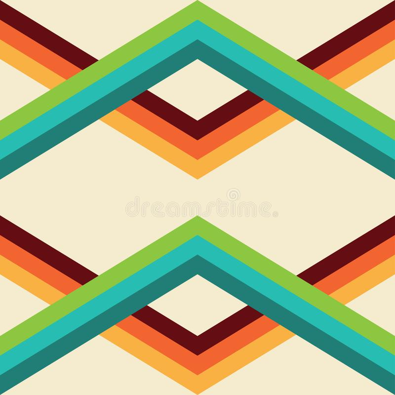 Retro seamless pattern. Illustration in vector fomar royalty free illustration
