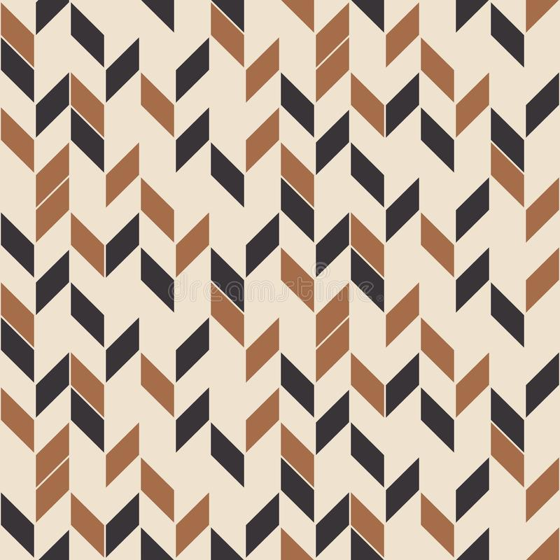 Retro seamless pattern, random zigzag. Scandinavian style. stock illustration